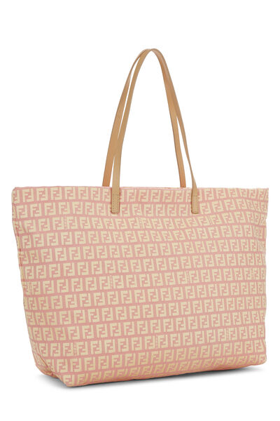 Pink & Yellow Zucchino Canvas Roll Tote, , large