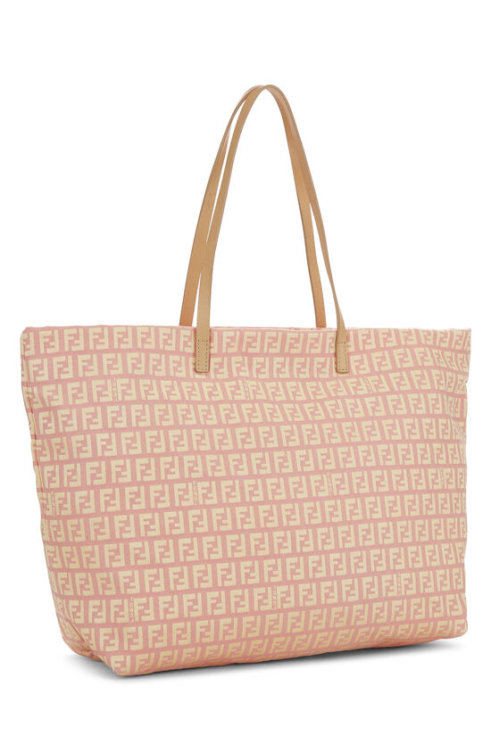 Pink & Yellow Zucchino Canvas Roll Tote, , large image number 1
