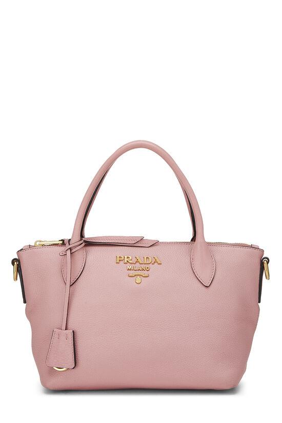 Pink Vitello Daino Handbag Small, , large image number 0
