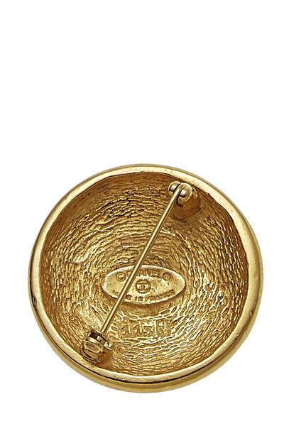 Gold 'CC' Sunburst Pin, , large