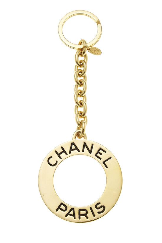 Gold Circular Paris Keychain, , large image number 0
