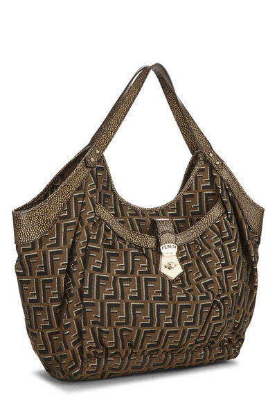 Brown Zucca Canvas Chef Tote Large, , large