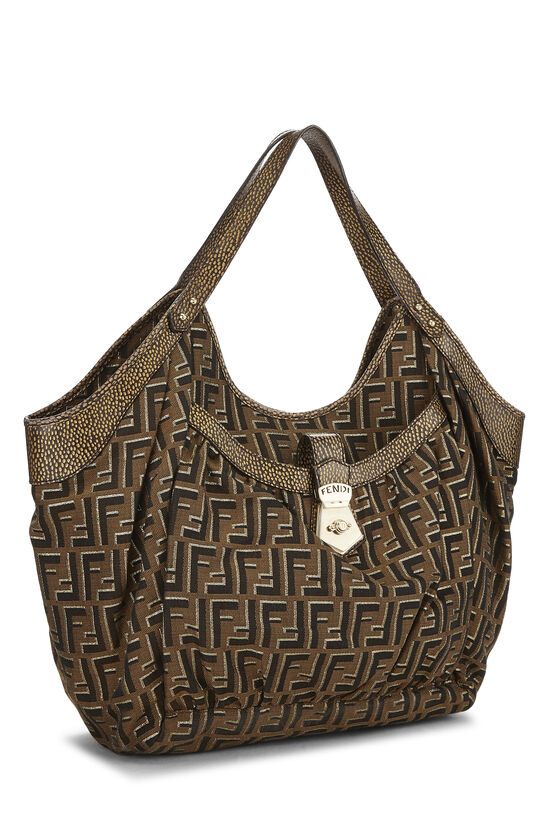 Brown Zucca Canvas Chef Tote Large, , large image number 1
