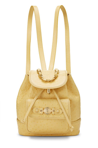 Yellow Ostrich Backpack