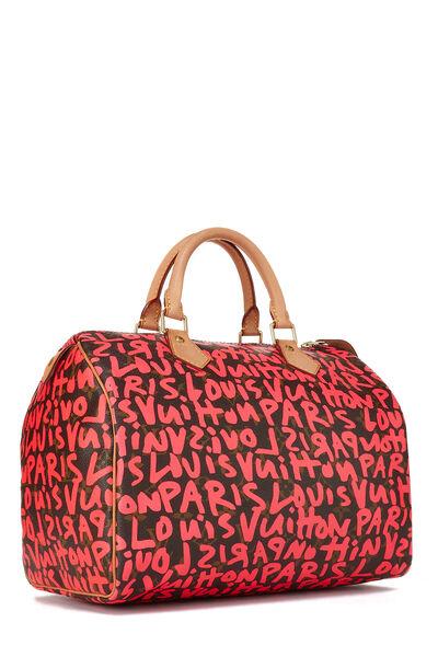 Stephen Sprouse x Louis Vuitton Monogram Pink Graffiti Speedy 30, , large