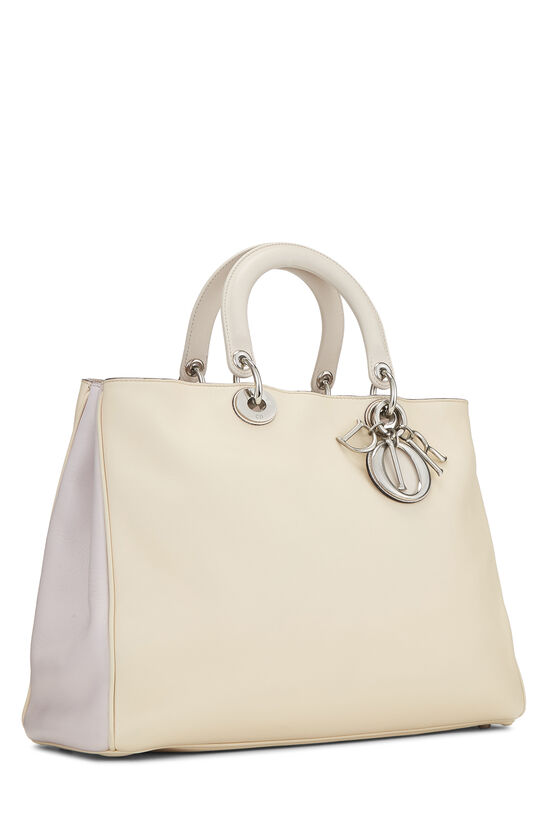 Cream Leather Diorissimo Large, , large image number 2
