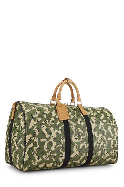 Takashi Murakami x Louis Vuitton Monogramouflage Keepall Bandouliere 55, , large