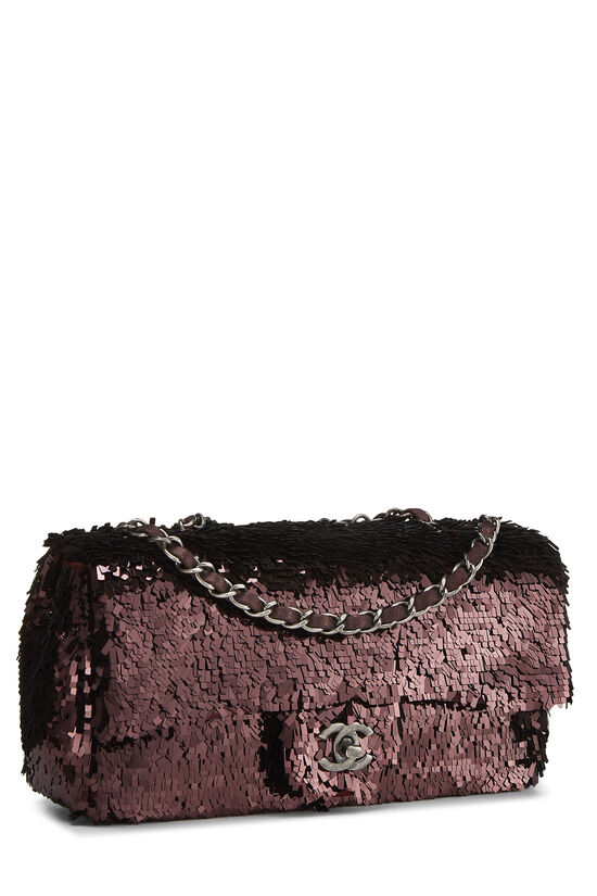 Burgundy Sequin Half Flap Small, , large image number 1