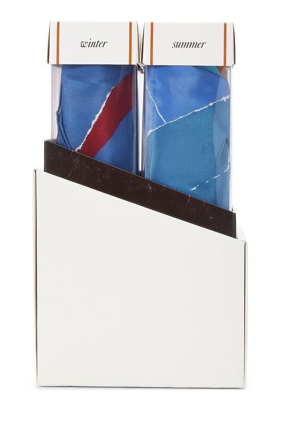 Multicolor Silk Seasons Scarf Set, , large image number 4