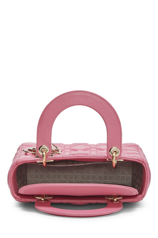 Pink Cannage Quilted Lambskin Lady Dior Small, , large image number 5