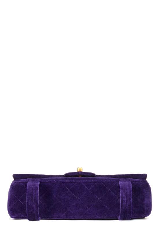 Purple Quilted Velour Magazine Flap Medium, , large image number 4