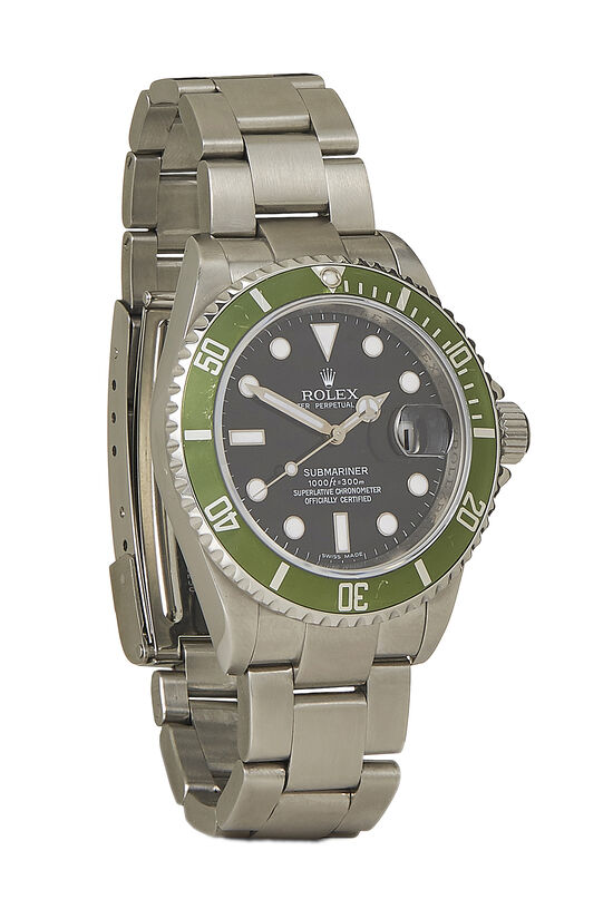 Stainless Steel Submariner-Date Kermit 16610LV 40mm, , large image number 0