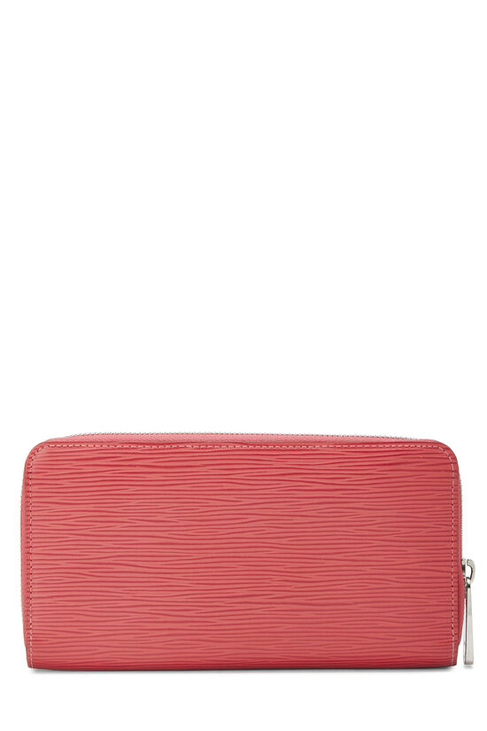 Coquelicot Epi Zippy Continental Wallet, , large image number 2