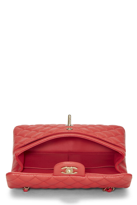 Red Quilted Caviar Classic Double Flap Small, , large image number 5