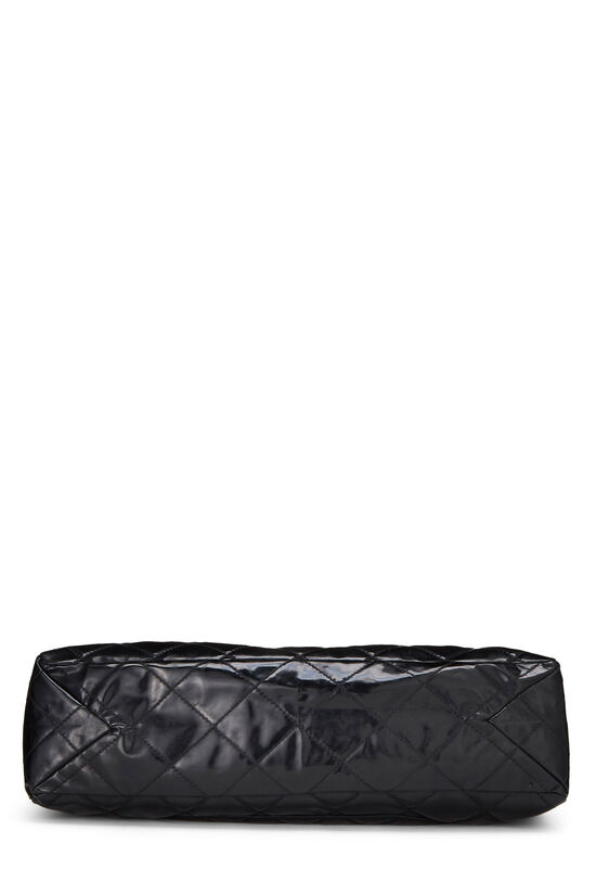 Black Quilted Patent Leather Reissue Flap Bag XL, , large image number 4
