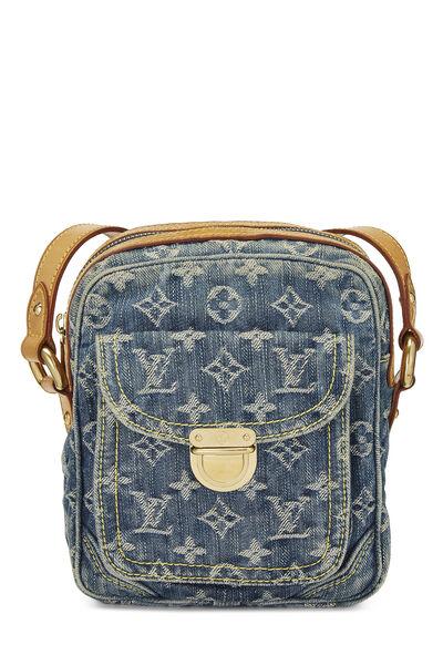 Blue Monogram Denim Camera Bag
