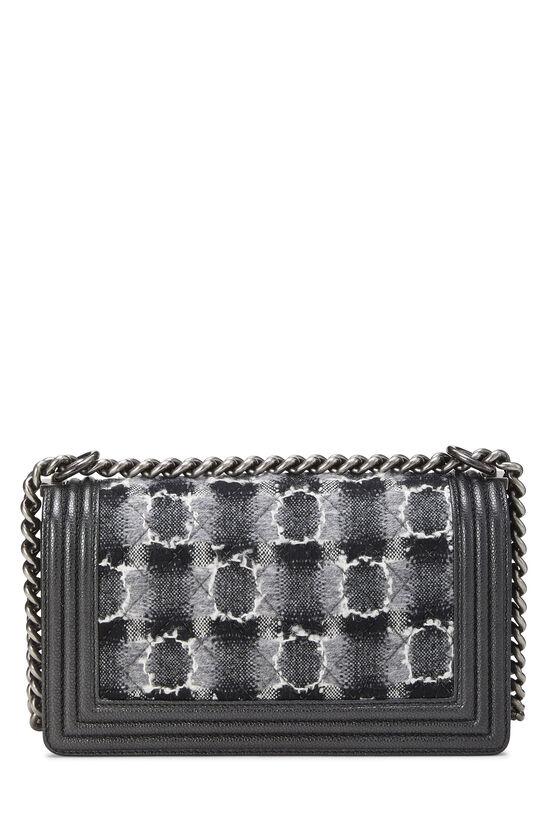Black Leather & Tweed Boy Bag Medium, , large image number 4