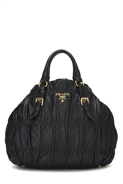 Black Nappa Gaufre Handbag