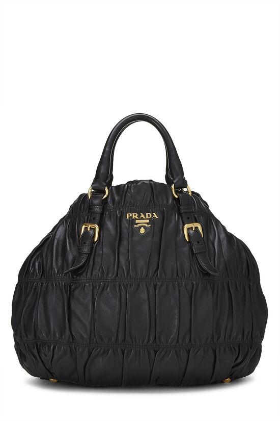 Black Nappa Gaufre Handbag, , large image number 0