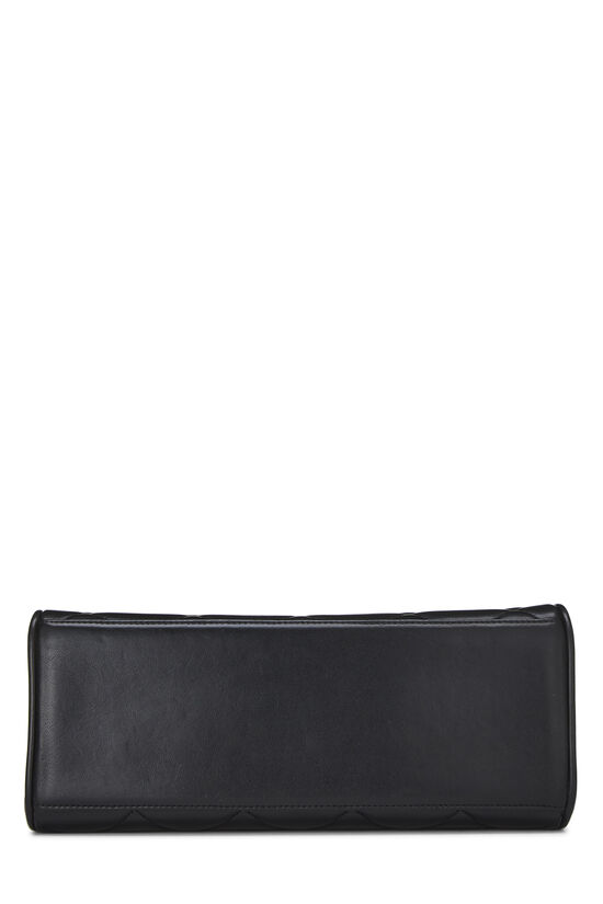 Black Quilted Lambskin Top Handle Bag, , large image number 4