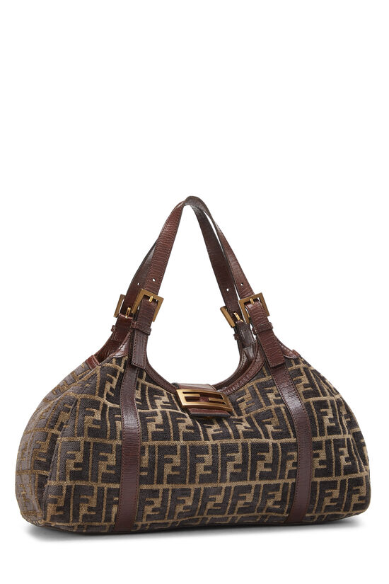 Brown Zucca Velour Borsa Sporty, , large image number 1
