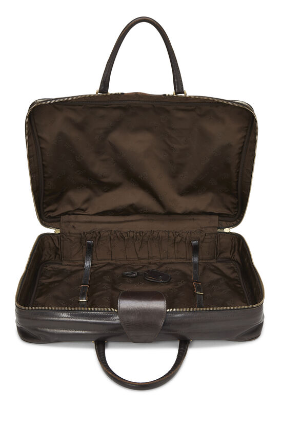 Brown Suede Logo Suitcase, , large image number 5