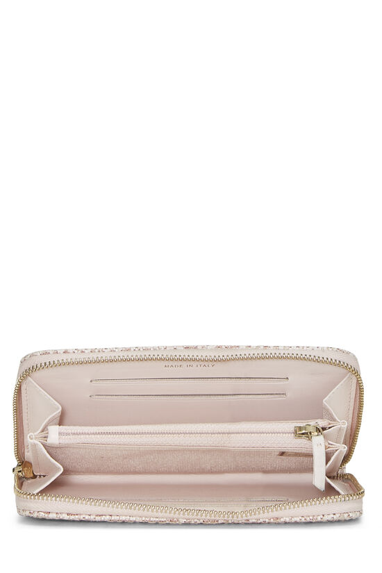 Pink Woven Raffia Deauville Wallet Small, , large image number 3