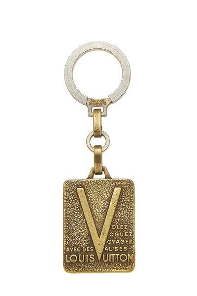 Gold Malletier Keychain