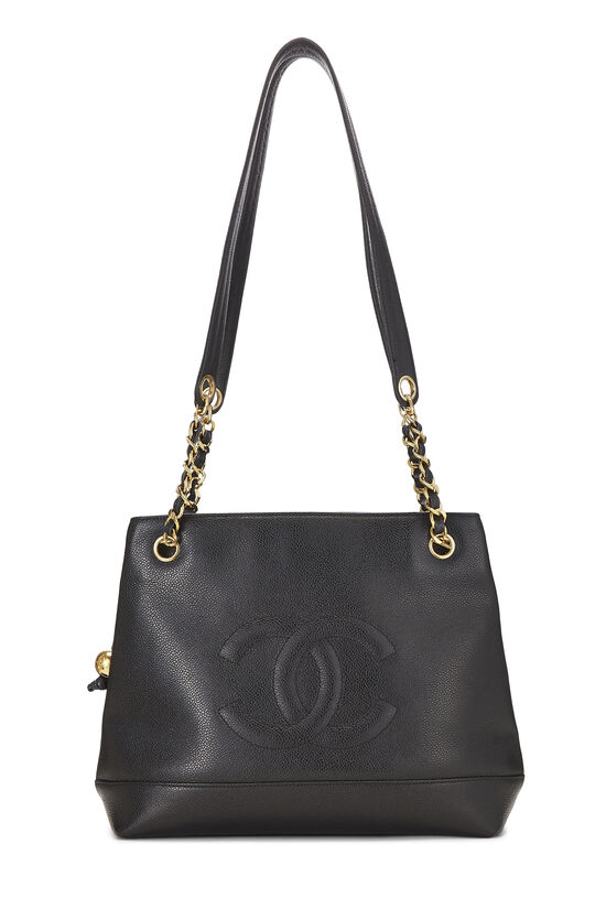 Black Caviar 'CC' Tote Small, , large image number 0