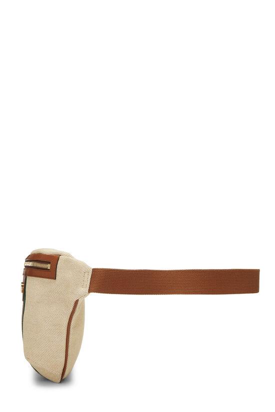 Beige Canvas Web Belt Bag, , large image number 2