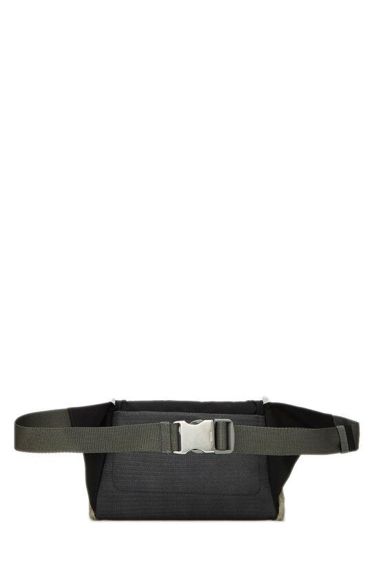 Black Nylon & Fur Sport Belt Bag, , large image number 3