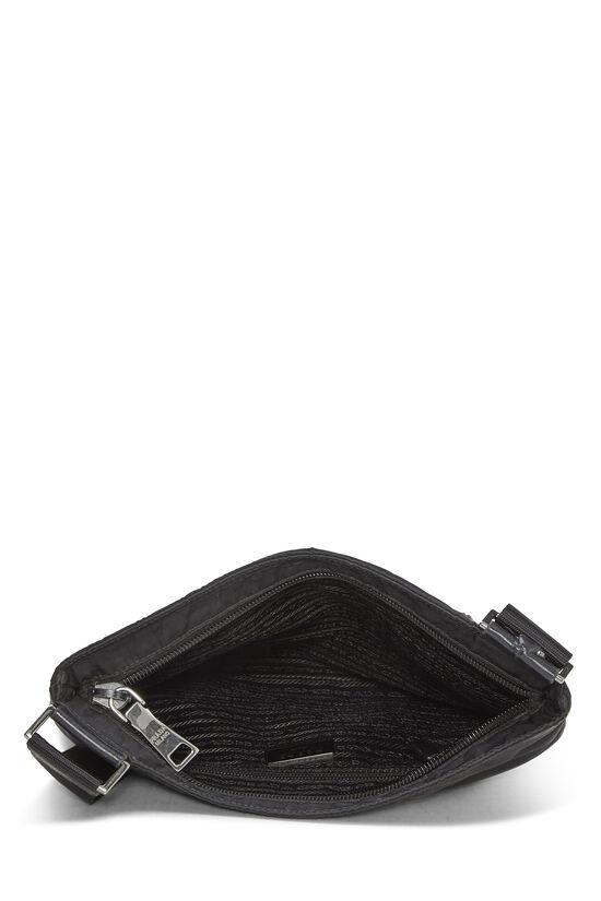 Black Nylon Shoulder Bag, , large image number 5