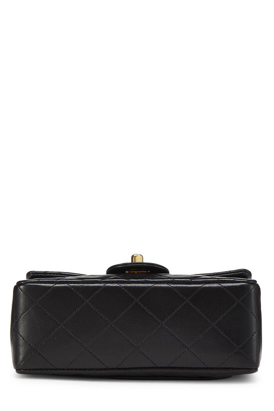 Black Quilted Lambskin Half Flap Mini, , large image number 4