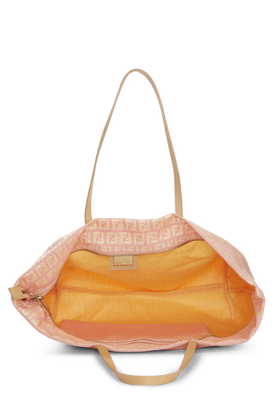 Pink & Yellow Zucchino Canvas Roll Tote, , large image number 5