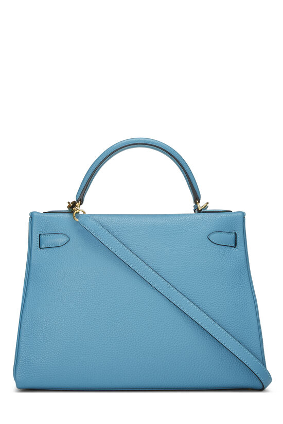 Turquoise Blue Togo Kelly Retourne 32, , large image number 3
