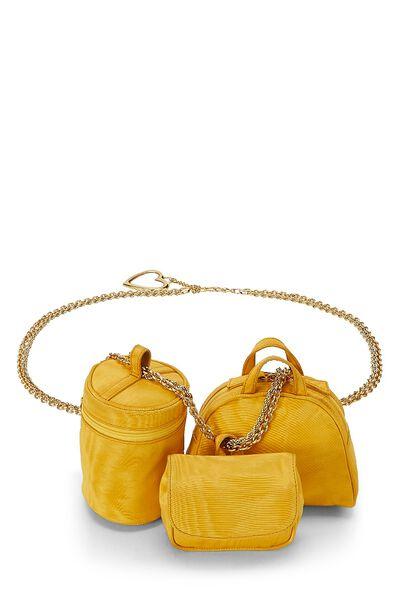 Yellow Nylon Belt Bag