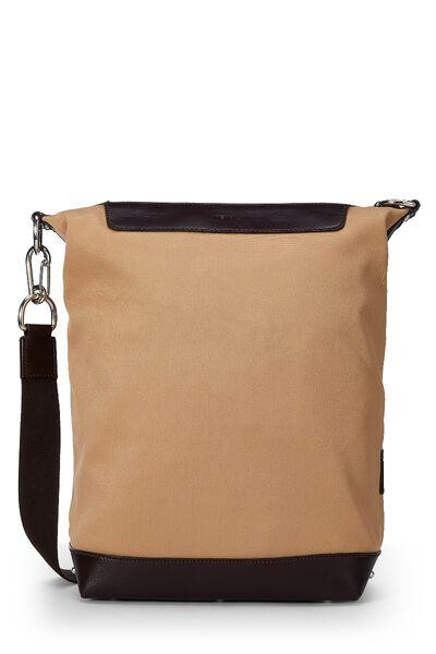 Beige Canvas Shoulder Bag
