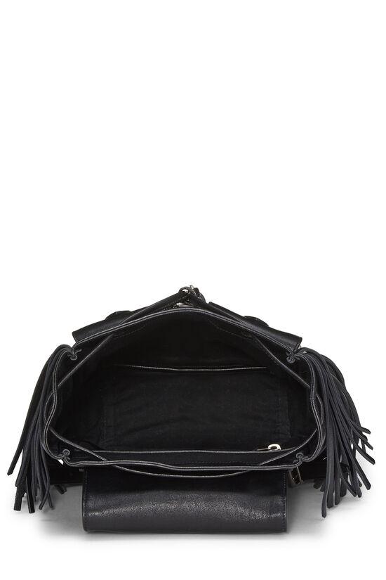 Black Calfskin Fringe Festival Backpack Small, , large image number 5