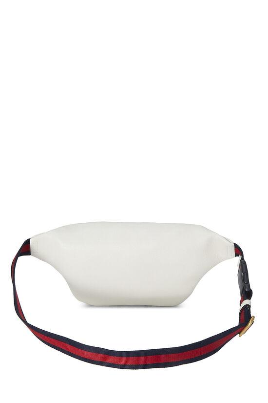 White Leather Logo Belt Bag Small, , large image number 3