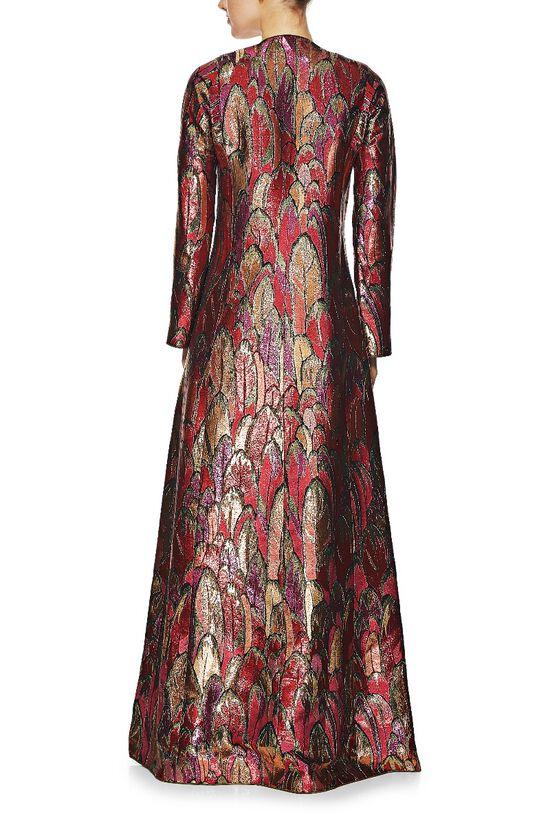 1960s Couture Multicolor Lamé Gown & Shoe Set, , large image number 2