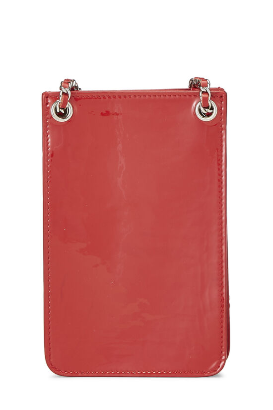 Red Patent Leather 'CC' Phone Holder, , large image number 4