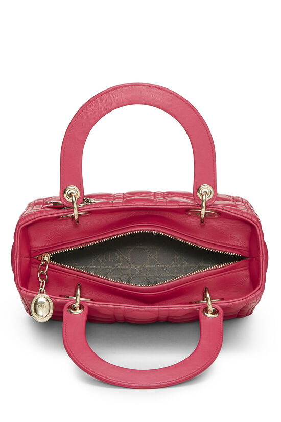Pink Cannage Quilted Lambskin Lady Dior Medium, , large image number 5