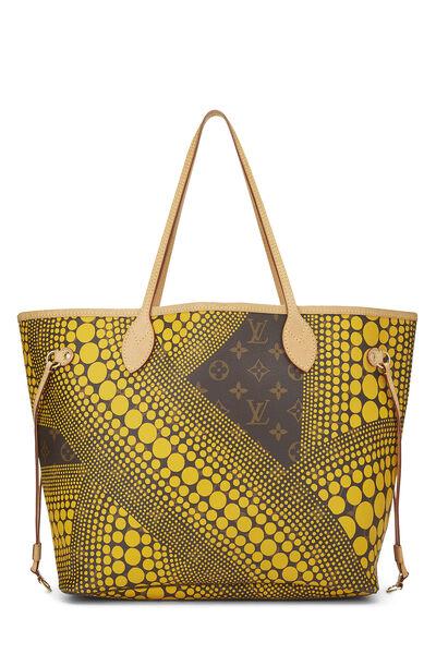Yayoi Kusama x Louis Vuitton Yellow Monogram Dots Infinity Neverfull MM