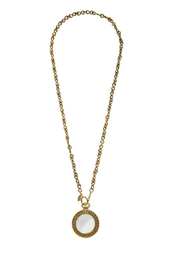 Gold Loupe Long Necklace, , large image number 0