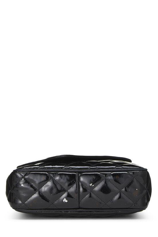 Black Quilted Patent Leather Pocket Camera Bag Mini, , large image number 4