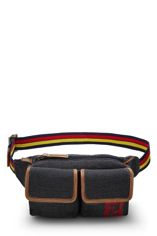 Blue Denim Belt Bag, , large image number 0